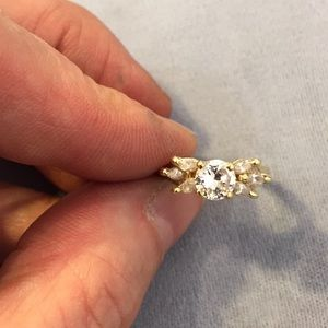 14k cz engagement ring